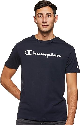 Champion Camiseta Hombre Azul Manga Corta Verano (XL): Amazon.es: Ropa y accesorios