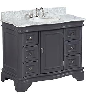 katherine 42inch bathroom vanity gray includes charcoal gray