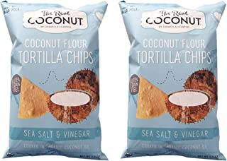 product image for The Real Coconut Grain/Gluten Free Coconut Flour Tortilla Chips 2 Pack (Sea Salt & Vinegar)