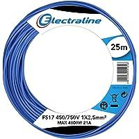 Electraline 13162Cable unipolar FS17, sección 1x 2.5mm², Azul