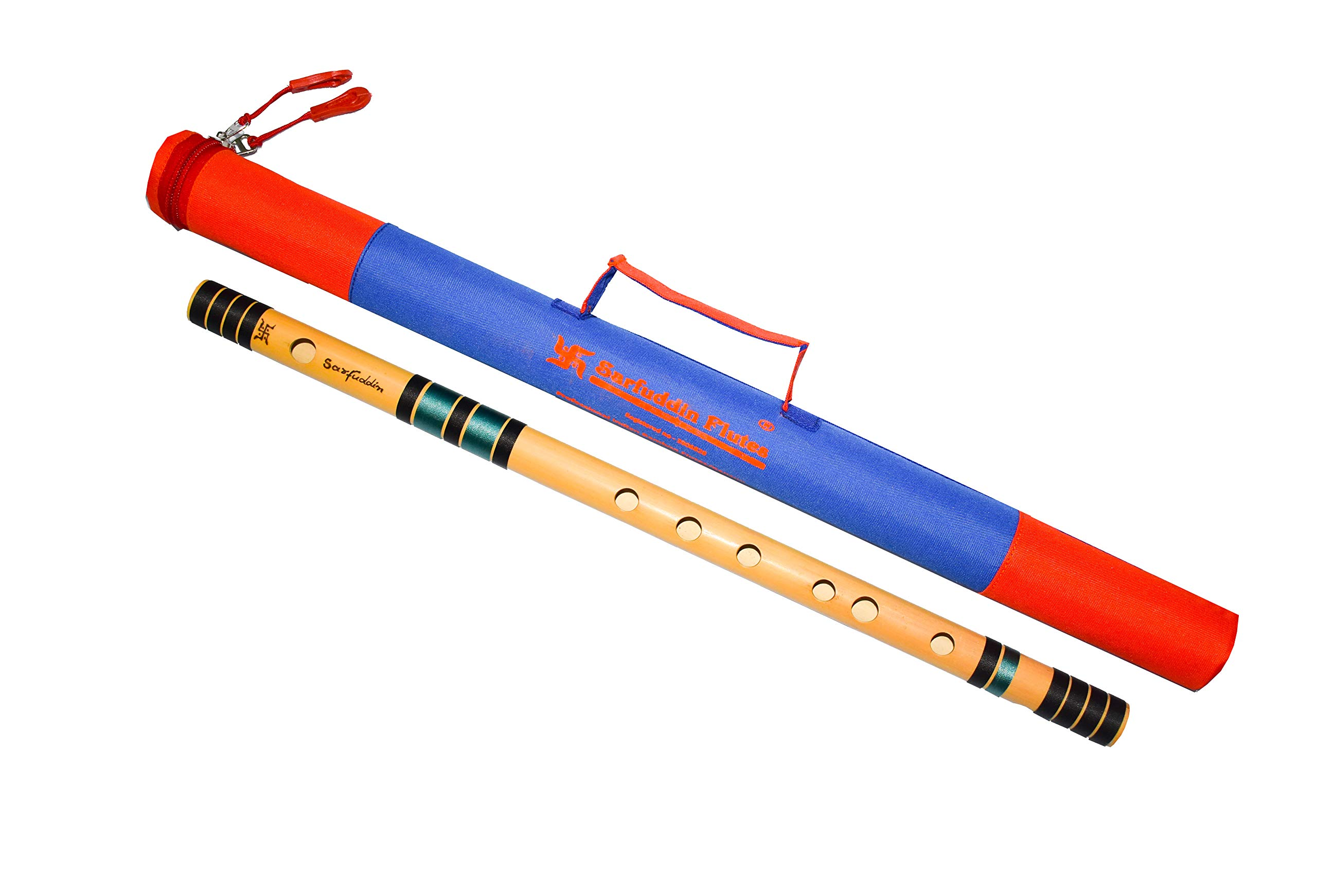 Sarfuddin flutes, Scale C Natural Medium 19.5 Inches Bamboo Flute/Bansuri. product image