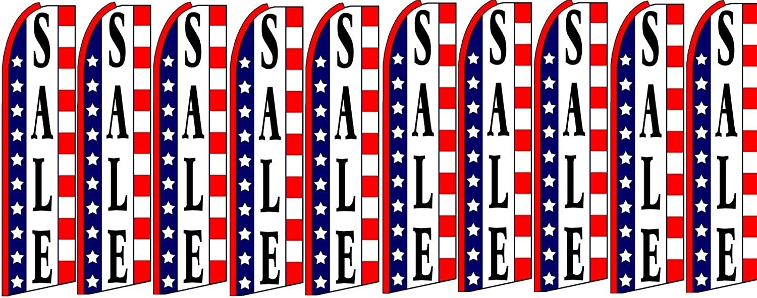 Sales King Swooper Feather Flag Sign Pack of 10 Hardware not Included