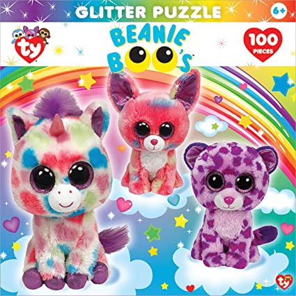 Amazon Com Masterpieces Beanie Boo Glitter Dream Club Jigsaw Puzzle