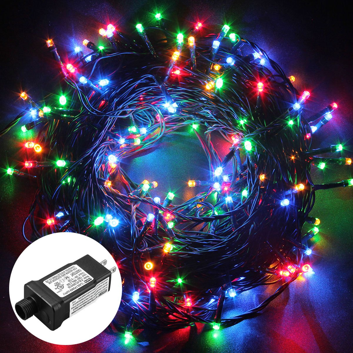 Excelvan Safe Low Voltage 250 LEDs 50M/164FT Dimmable Fairy String Lights with 8 Modes for Bedroom Patio Garden Gate Yard Party Wedding Christmas Decoration, Multi Color