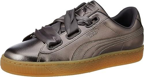 Puma, Donna, Suede Heart Luxe, Pelle, Sneakers, Grigio