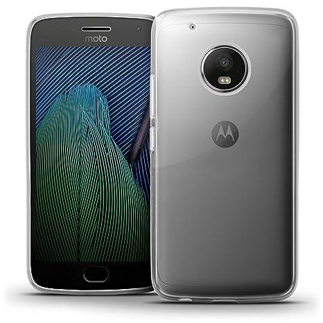 igadgitz Transparente Claro Lustroso Funda Carcasa Gel TPU para Motorola Moto G5 Plus (Moto G Plus 5ª Gen/Lenovo Moto G5 Plus) Case Cover + Protector ...
