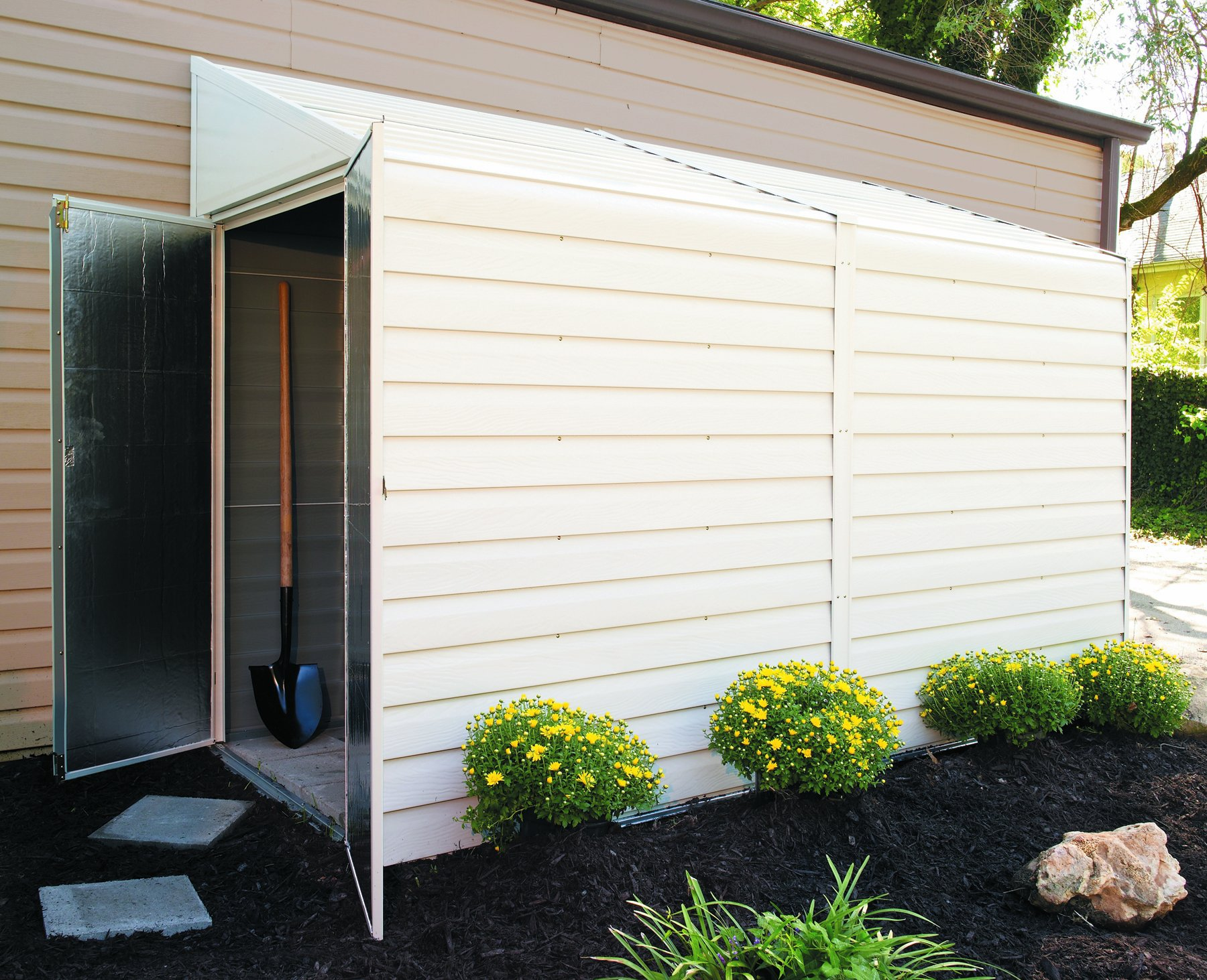Arrow Shed YS410-A Yard Saver 4-Feet by 10-Feet Steel Storage Shed by Arrow