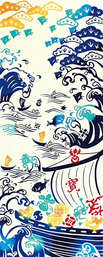 "Toalla tradicional japonesa ""Tenugui TAKARABUNE"