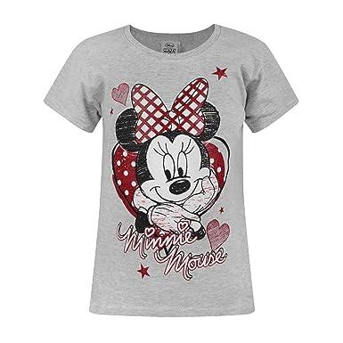 01dbfaf90 Disney Minnie Mouse - Camiseta de manga corta oficial de Disney Minnie  Mouse para niñas  Amazon.es  Ropa y accesorios