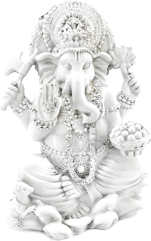 Bellaa 20957 Ganesh Statues Hindu Good Luck God 7 Inch Tall