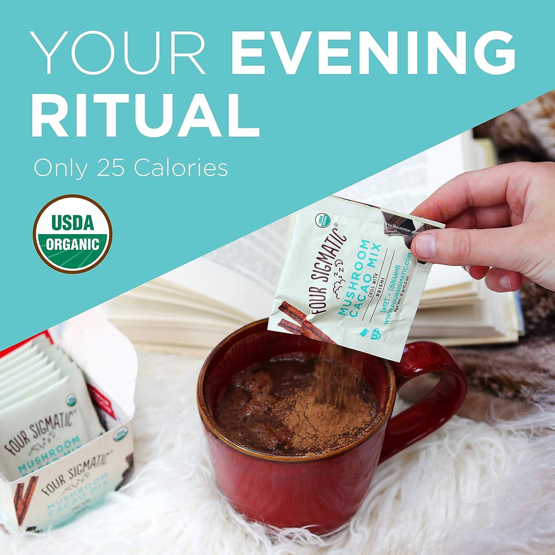 Four Sigmatic Mushroom Hot Cacao with Reishi - USDA Organic Reishi Mushroom  Powder -