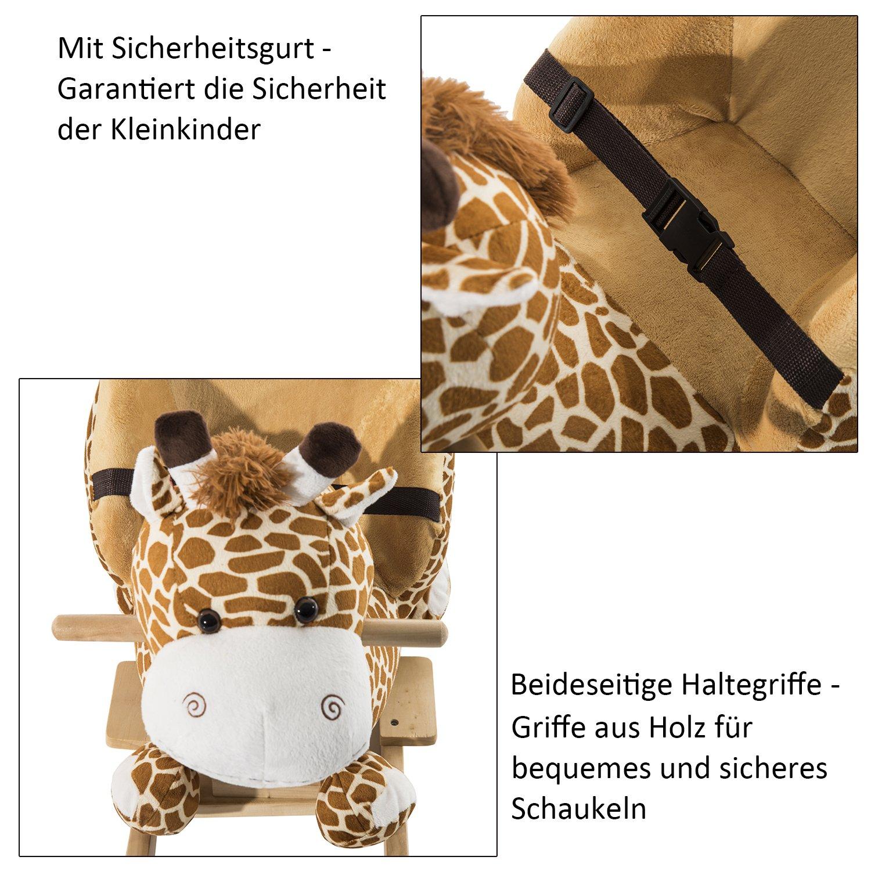 Homcom Schaukelpferd Kinder Schaukeltier Plüsch Schaukel Pferd Baby ...