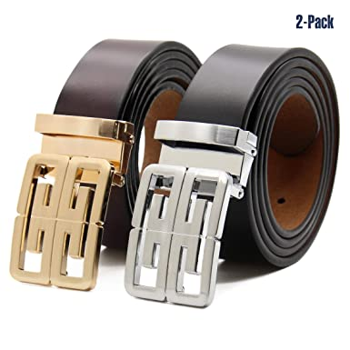 Men Must-have Fashion Color Matching Business Casual Mens Belt High-quality Alloy Buckle High-grade Leather Belt Classic Color Men's Belts