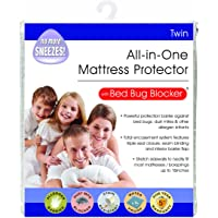 Bed Bug Blocker Hypoallergenic All In One Breathable Twin Mattress Cover Encasement Protector Zippered Water Resistant Dust Mite Allergens Insects