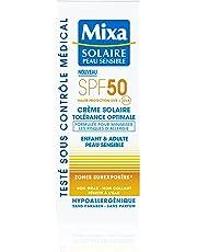 Mixa Solaire Peau Sensible - Crème Solaire Tolérance Optimale SPF 50 - 75 ml