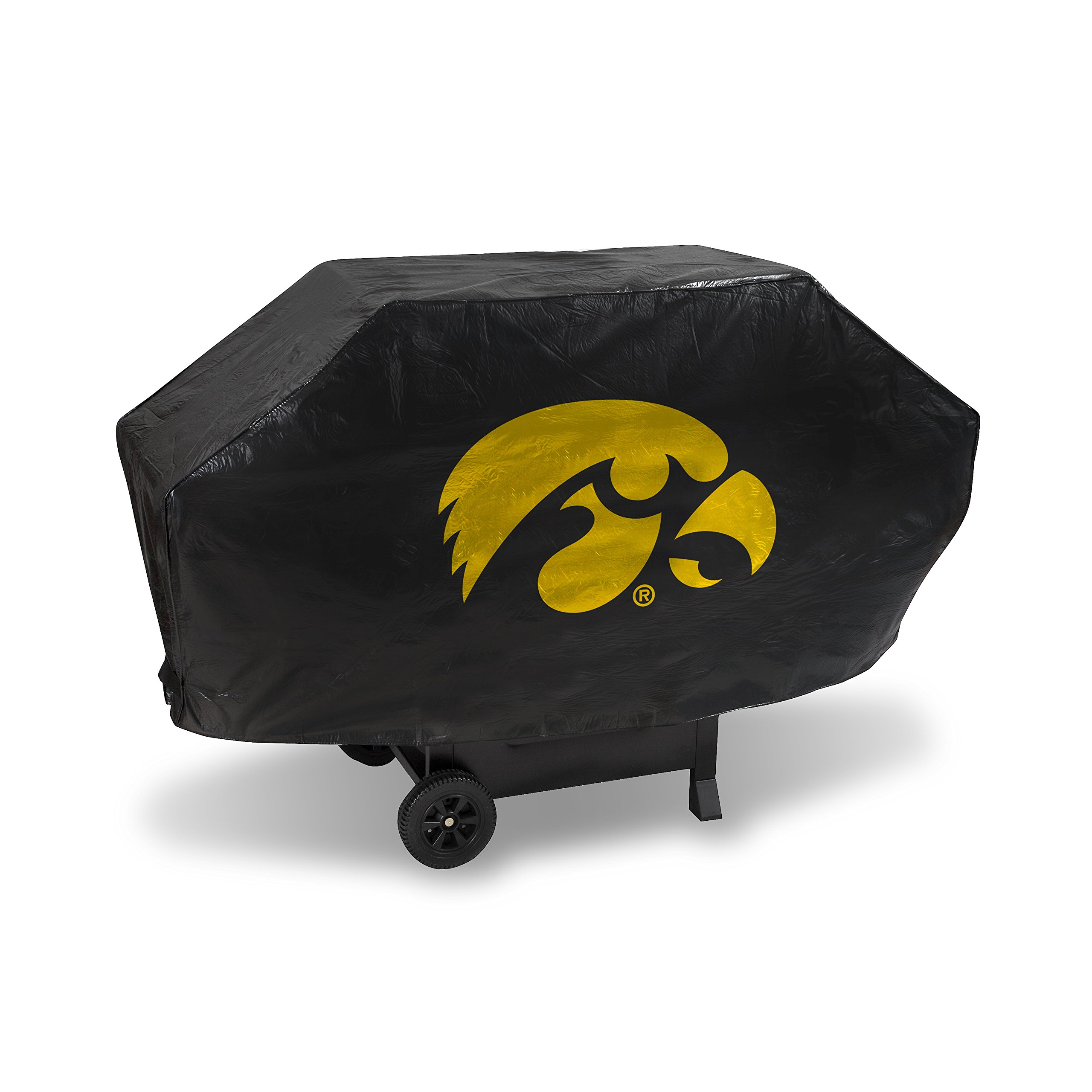 NCAA Iowa Hawkeyes Deluxe Grill Cover, 68'', Black
