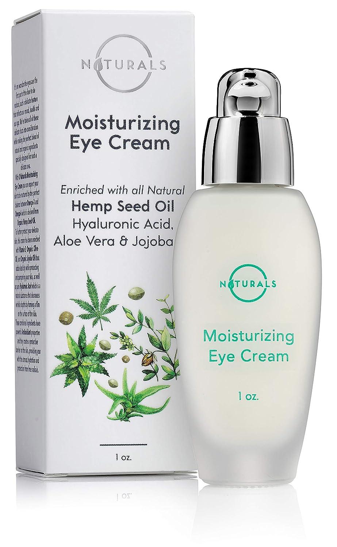 O Naturals Organic Hemp Seed Oil Anti-Aging Moisturizing Eye Cream for Sensitive Skin Day & Night. Reduces Fine Lines & Wrinkles Under & Around Eyes. W/ Hyaluronic Acid, Jojoba Oil, Shea Butter. 1 oz