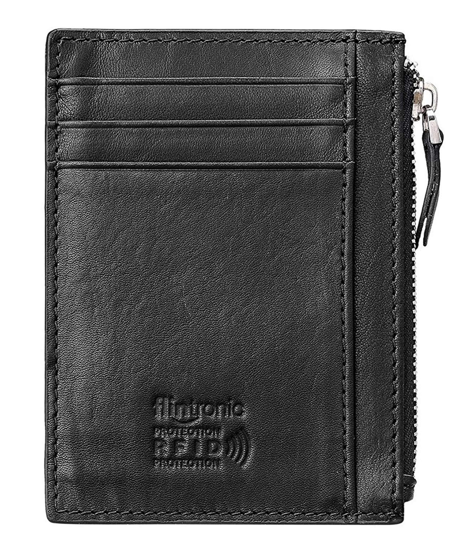 c99695c09 flintronic Billetera, Tarjetas de Crédito Slim 0.2cm, Moda RFID Bloqueo  Monedero de Cuero