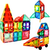 LearnFun Magnetic Tiles Building Block Set | Colorful, Educational and Creative STEM Construction Toy for Boys, Girls, Kids &