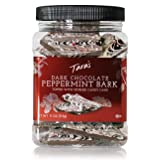 Tara's Gourmet Handcrafted Premium Thin Dark Chocolate Peppermint Bark, 0.94 Ounce