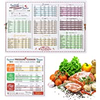 2 Pack Magnetic Cheat Sheet Compatible with Instant Pot Food Magnet Cooking Times Accessories for 90 Common Prep Functions (Large)