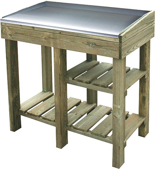 Nordje Table de jardinage hordijenko avec plan de travail en ...