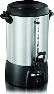 Proctor Silex Commercial 45060 Coffee Urn 60 Cup Aluminum, One Hand Dispensing, Coffee Level Indicator, 16.93