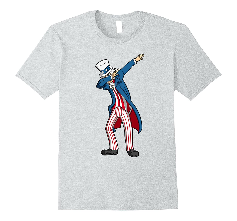 4th Of July Dabbing Uncle Sam Patriotic American Flag Shirt-PL