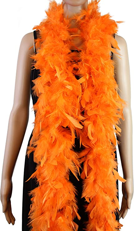 12 HUGE FLUFFY FEATHER BOA  party  necklace boas diva