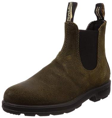 c5dee73ce291 Blundstone Women s 1615 - Suede Original Chelsea Boot 5 M Dark Olive