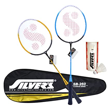 031224adf2749 Image Unavailable. Image not available for. Colour  Silver s SB-260 COMBO2  Badminton Kit