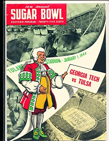 1944 Sugar bowl Football Program Georgia Tech vs Tulsa at Amazon's ...