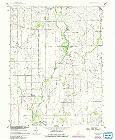 Boggstown Indiana Map.Amazon Com Yellowmaps Boggstown In Topo Map 1 24000 Scale 7 5 X