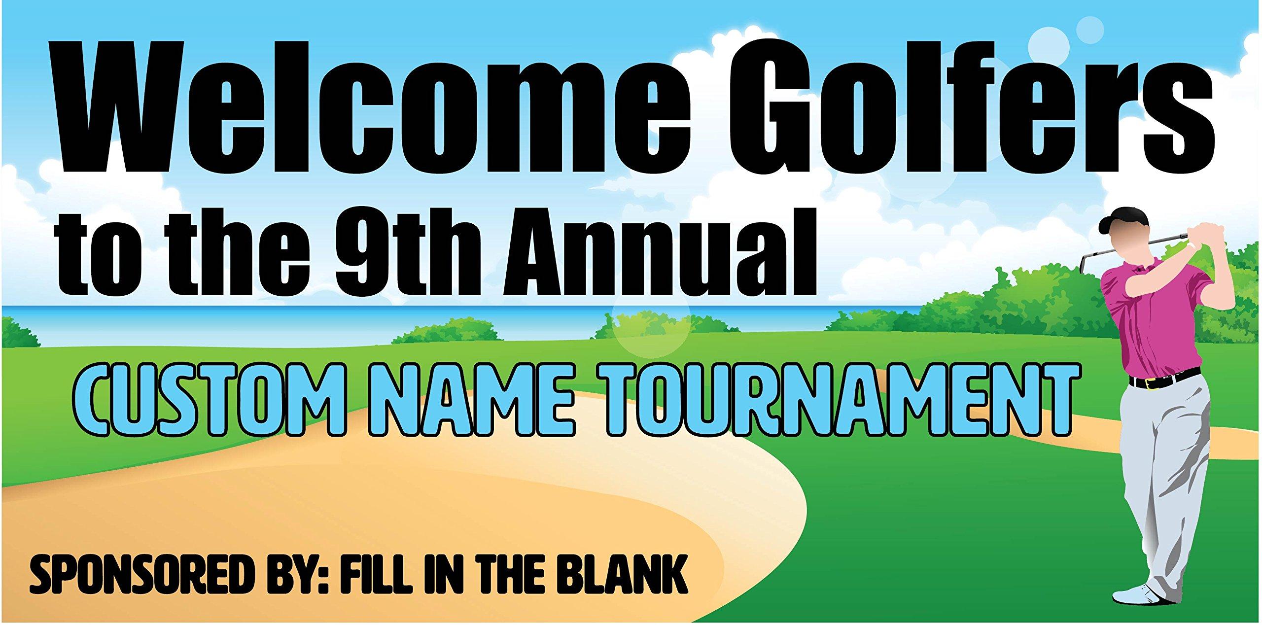 Custom Printed Golf Tournament Banner - Beach (10' x 5')