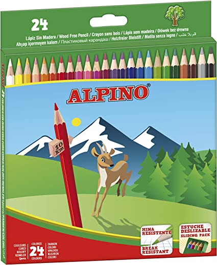 Alpino AL010658 - Estuche 24 lápices, multicolor: Amazon.es ...