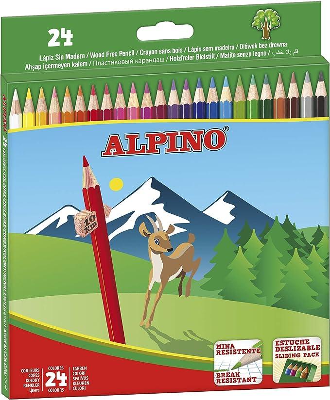 Alpino AL010658 - Estuche 24 lápices, multicolor: Amazon.es: Oficina y papelería