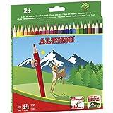 Lapices de Colores Alpino - Estuche de lápices de madera 24 unidades - Lapices para Niños y Adultos - Forma Hexagonal…