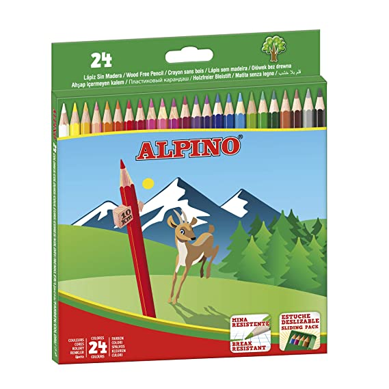 Amazon.com : Alpino 722854 - Coloured Pencils, Wallet of 24 ...