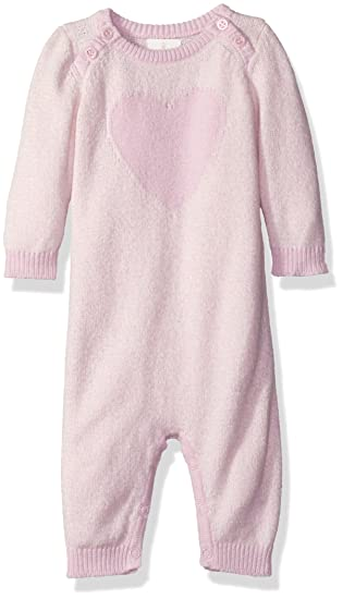 f4c7bb4c98d5 Cuddl Duds Baby Girls  Heart Sweater Coverall  Amazon.in  Clothing ...