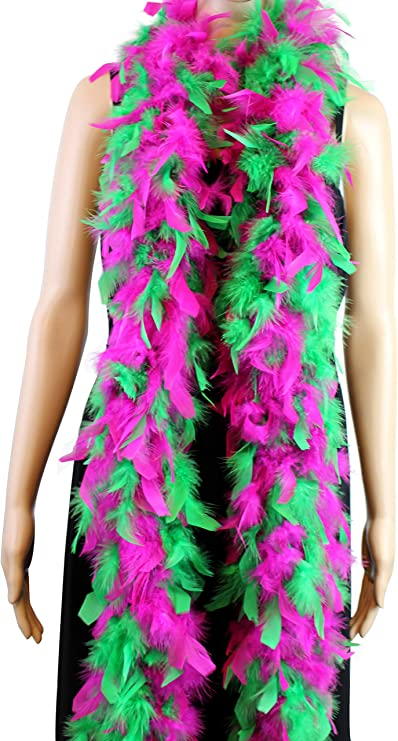 Hot Pink 80 Grams Chandelle Feather Boa Dance Party Halloween Costume