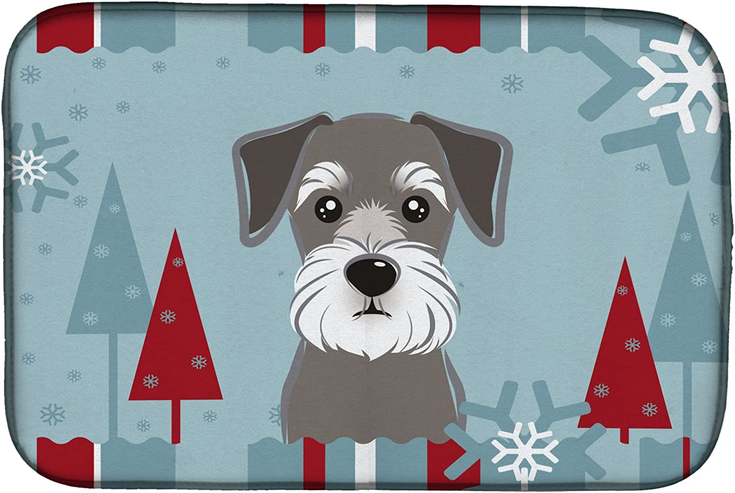 Hot Pad or Trivet Carolines Treasures BB1737MP Winter Holiday Border Collie Mouse Pad Large Multicolor