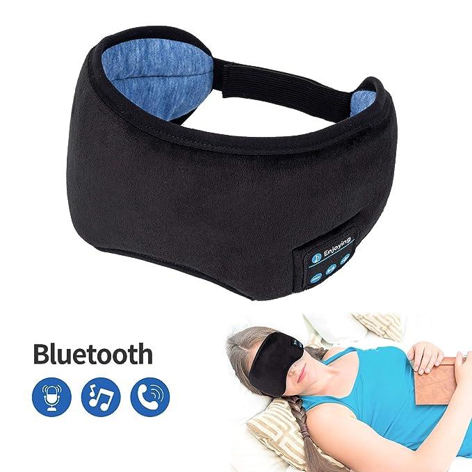 4cc315f697a Bluetooth Sleeping Eye Mask Wireless Headphone, Voerou Adjustable Music Sleep  Eye Shades with Built-