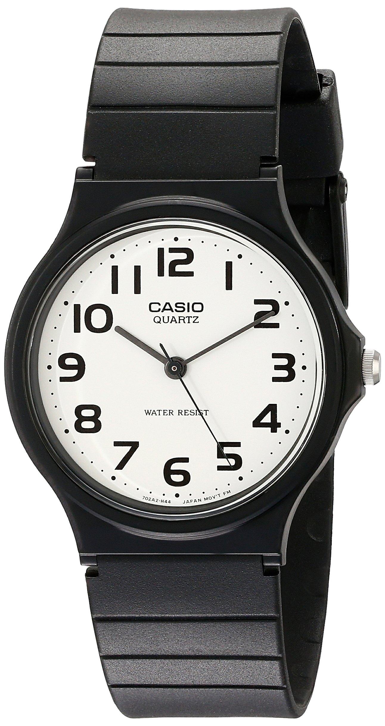 Casio Men's Classic Quartz Watch with Resin Strap, Black, 20 (Model: EAW-MQ-24-7B2) by Casio