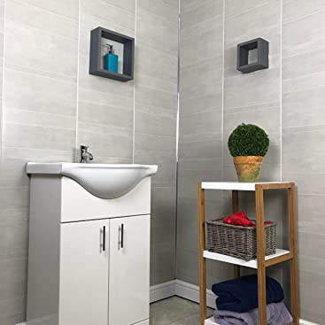 The Cladding Store Multi Tile Greystone 8mm Large Wet Wall ...