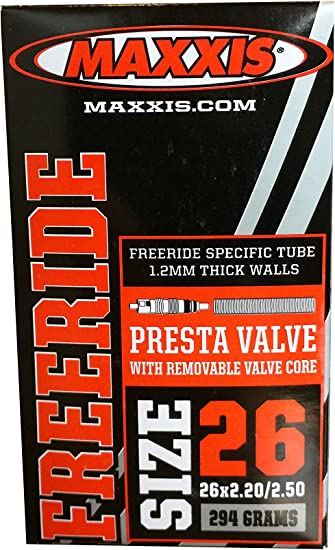 Maxxis Freeride Bicycle Tube w//Removeable Valve Core Presta