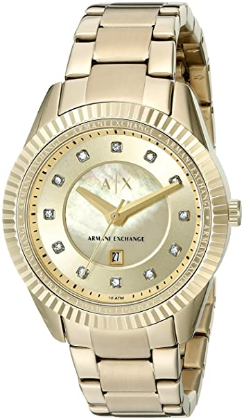 Armani Exchange Womens AX5431 Gold Watch