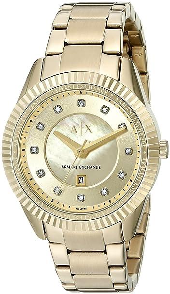 Armani Exchange Womens AX5431 Gold Watch