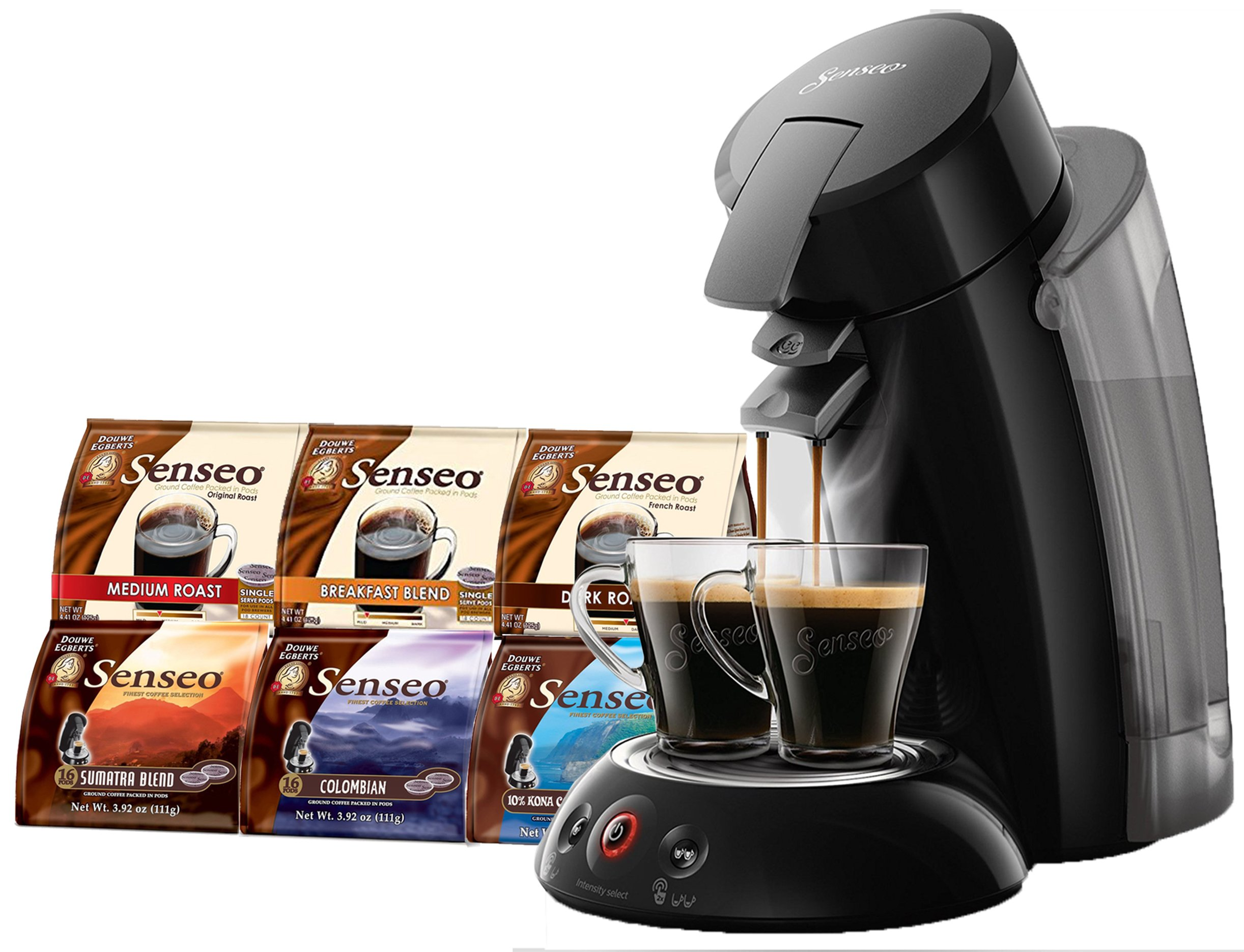 Senseo Coffee Maker XL - Model 2018 Bundle including Senseo Coffee Variety Pack Sampler -6-flavor (Pack of 6) by Senseo (Image #1)
