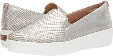 Original Collection by Dr. Scholl's Bradyn Metallic Snake Print Slip-On Sneakers 35km82w3V