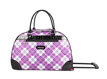 Image Unavailable. Image not available for. Color  Kathy Van Zeeland  Women s 22 Inch Printed Rolling Carry-On ... d88de49a4b997